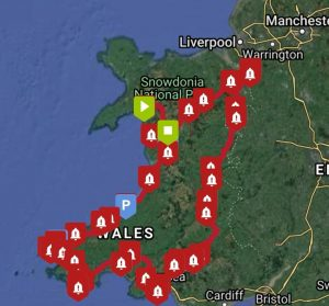South Wales Circular Route - where we stopped along the way